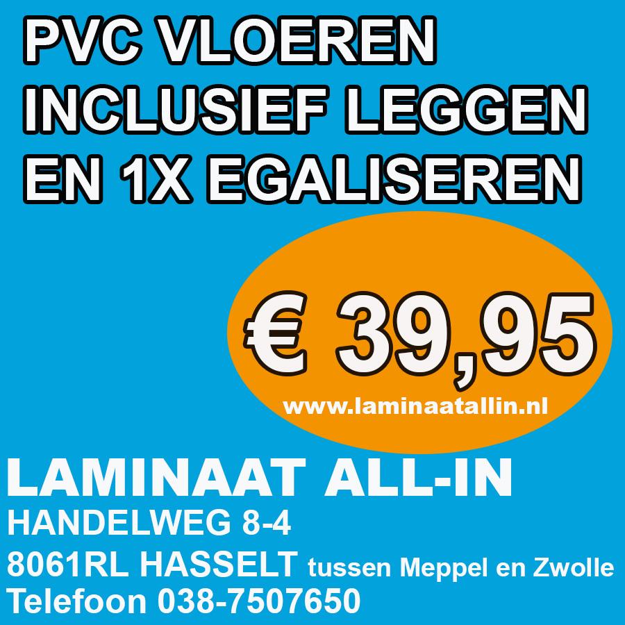 PVC aanbieding inclusief gratis leggen en 1x egaliseren NU € 39,95 Vraag gratis offerte en stalen aan. Wij leggen door heel Nederland. Ook projecten als kantoren, winkels, hotels. Vraag voor speciale projectprijzen.